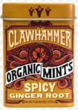 CANDY TIN - CLAWHAMMER MINTS - SPICY GINGER ROOT X 12 UNITS