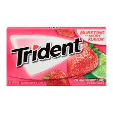 TRIDENT VALUE PACK ISLAND BERRY LIME ESCAPE 12 UNITS //EXP MAR 05 2021