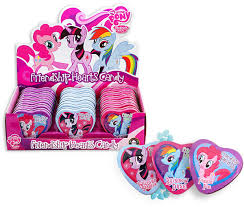 BOSTON AMERICA - MY LITTLE PONY - FRIENDSHIP HEARTS TIN X 18 UNITS