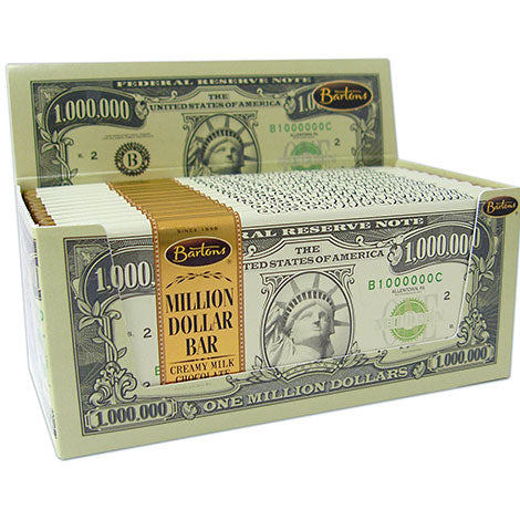 BARTONS MILLION DOLLAR MILK CHOCOLATE BAR 2 OZ (57G) X 12 UNITS