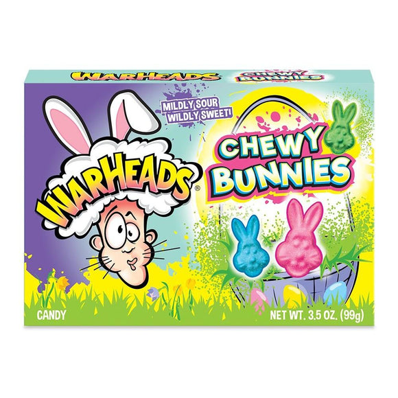 WARHEADS EASTER CHEWY BUNNIES THEATRE BOX 3.5oz X 12 UNITS