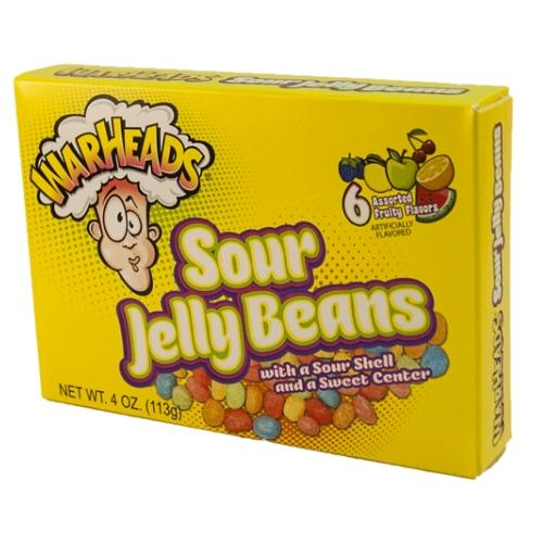 THEATER BOX WARHEADS SOUR JELLY BEANS 4OZ 12 UNITS