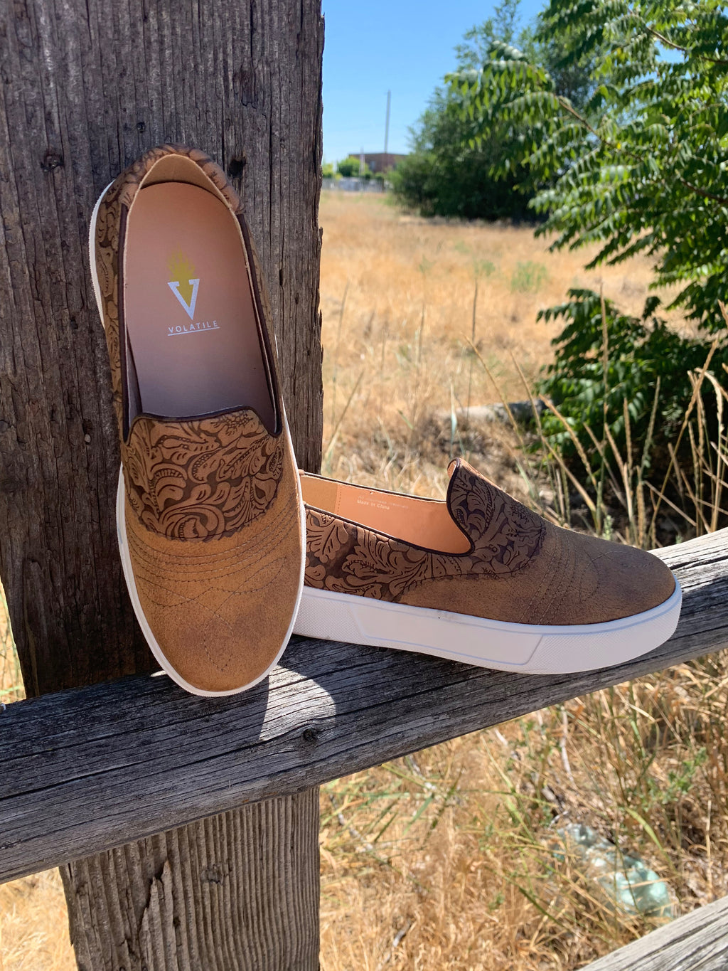 Brown Rosecrans Tooled Sneaker
