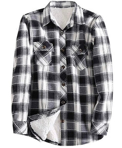 Black & White Buffalo Lined Plaid
