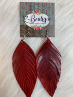 Feather Leather Earring