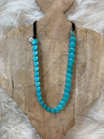 Turquoise Disk Necklace