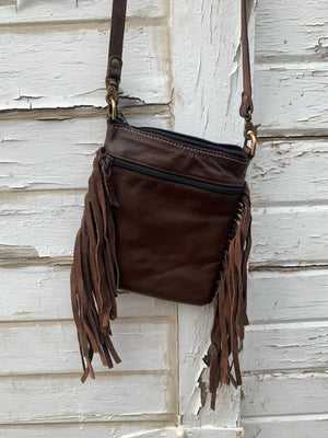 Tan Multi Accent Crossbody Bag