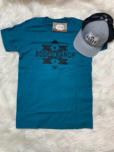 Rodeo Ranch Aztec Teal Graphic Tee