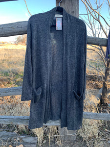 Charcoal Pocketed Cardigan