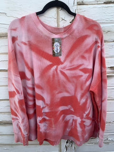Coral Distressed Sweater (XXL)