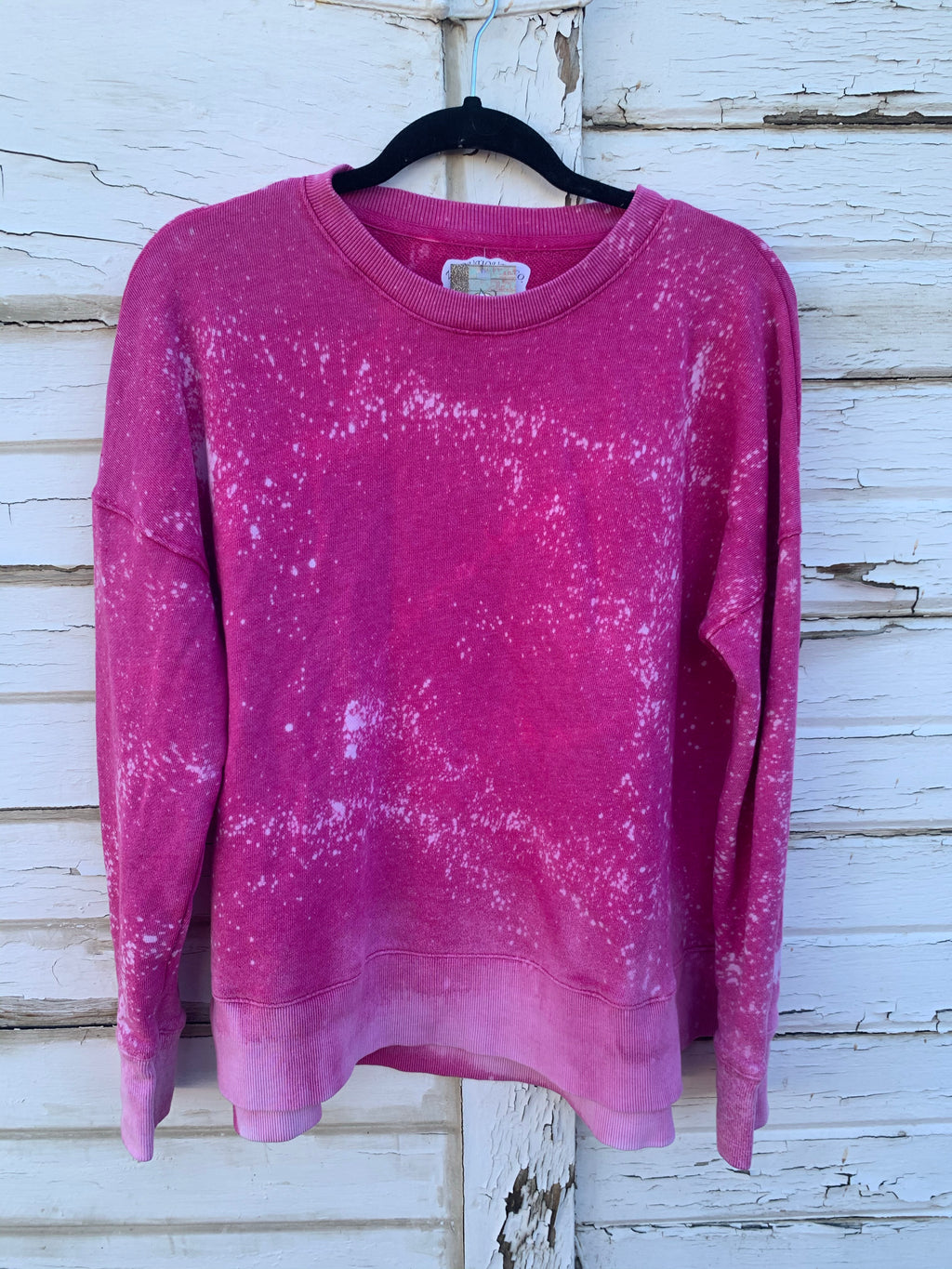 Fuschia Distressed Sweater (LARGE)