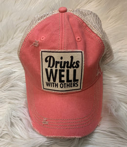 Drinks Well Ball Cap