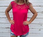 Lace Trim Tunic (Pink)