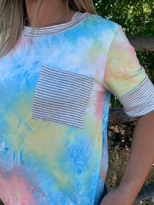 Tie Dye Pocket Blouse