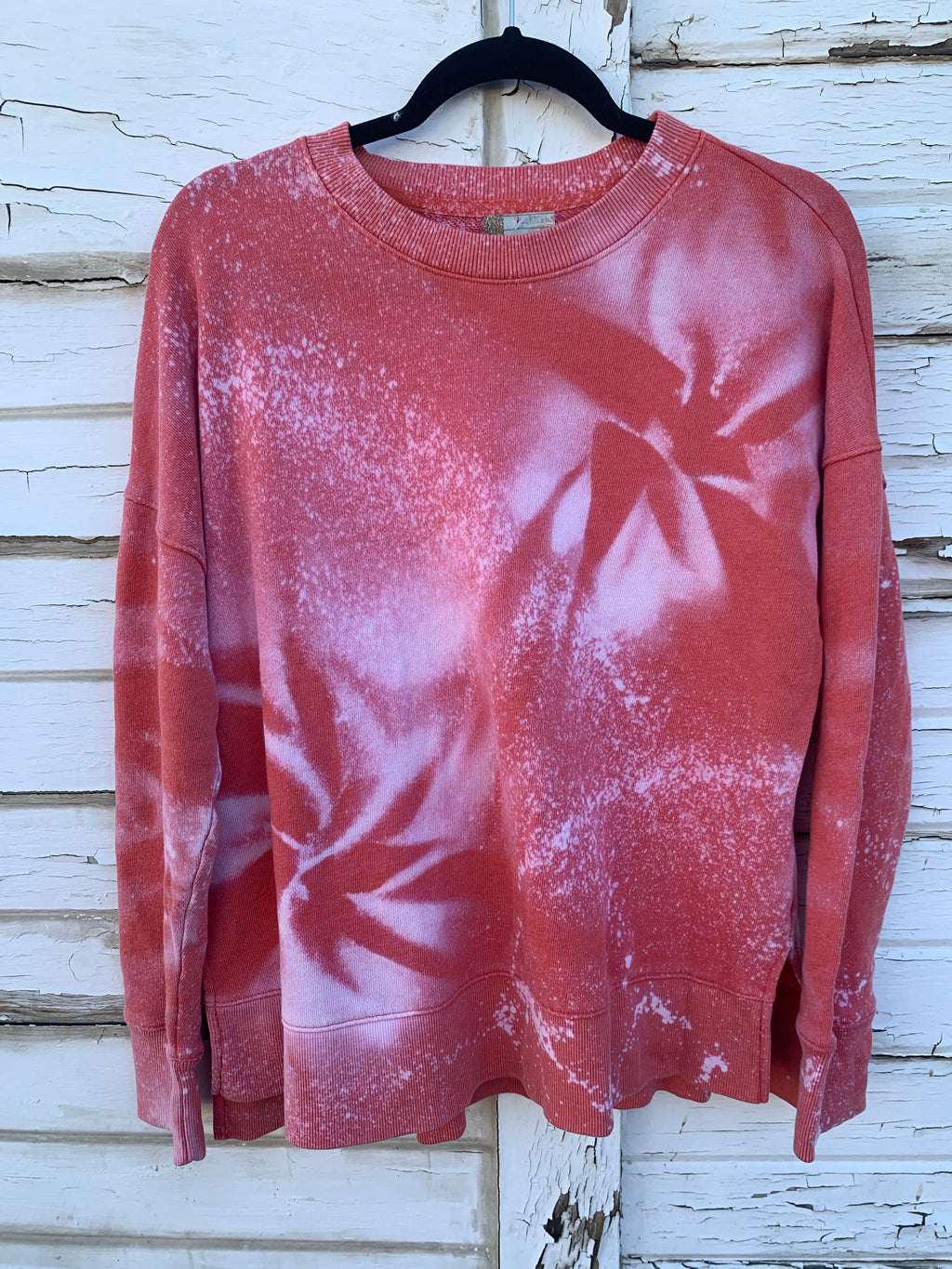 Coral Distressed Sweater (MEDIUM)
