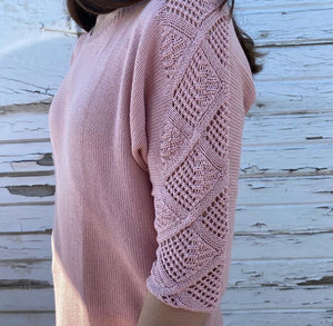 Light Weight knitted 3/4 Sleeve Sweater