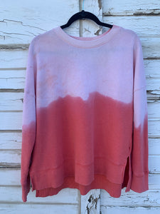 Coral Distressed Sweater (LARGE)