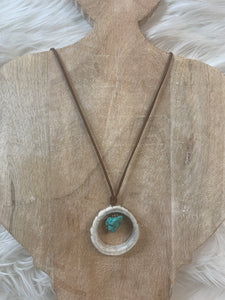 Antler & Turquoise Nugget Necklace
