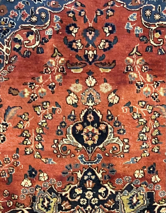 1930s Antique Sarouk Turkish Hand Knotted Rug, 10x12.3 , Wool