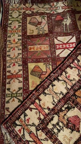 Silk Persian Kilim, Hank Knotted - EZ Rugs & Art -rug
