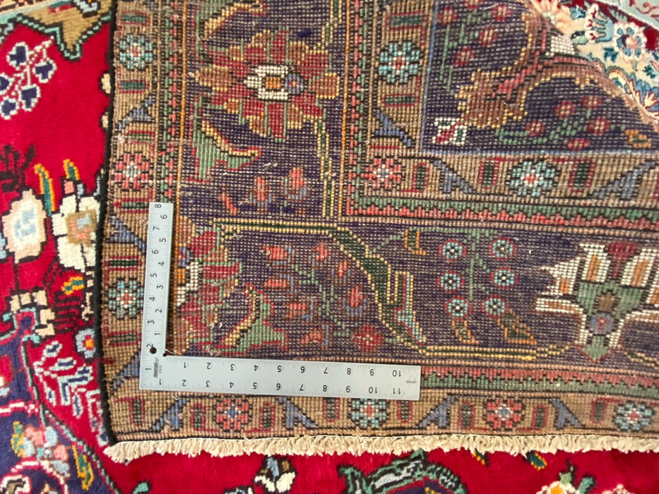 "Antique Turkish Rug Tabriz Design, 1900c, 6'8""x9'2"""