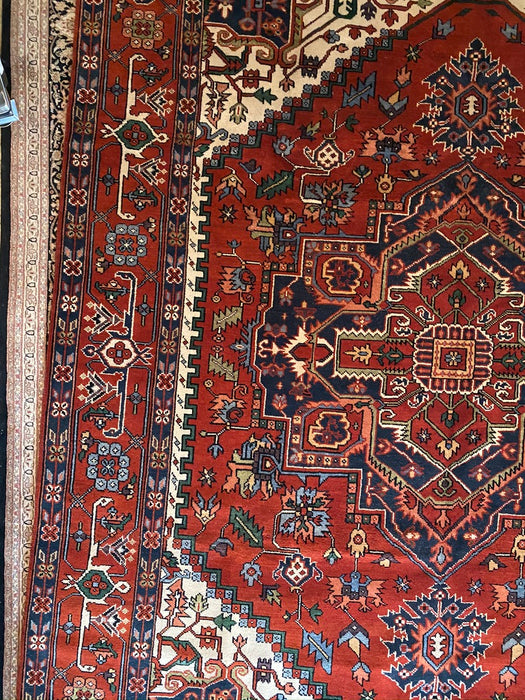 "Indian Serapi-Heritage 9'1"" x 12'1"" Hand-knotted Wool - EZ Rugs & Art -rug"
