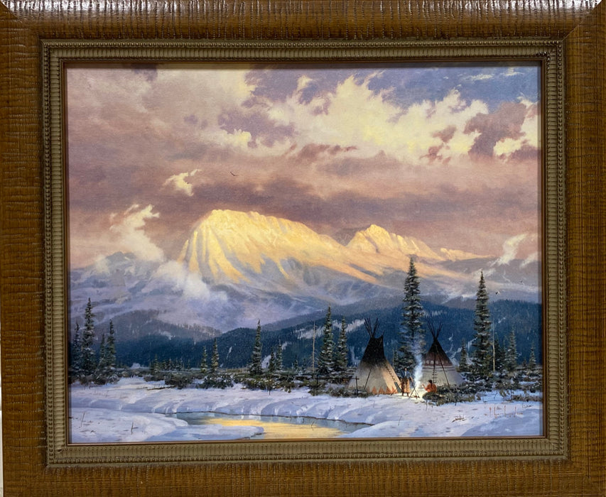 """Lingering Dust"" framed painting by Thomas Kinkade"