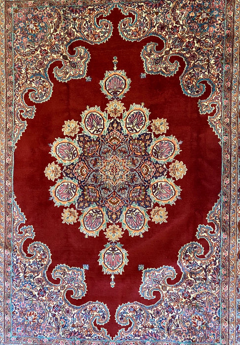 Authentic Antique Persian Rug, Mashad Design, 300 Kpsi, Kork(Lamb Wool), 5'x7' - EZ Rugs & Art -rug