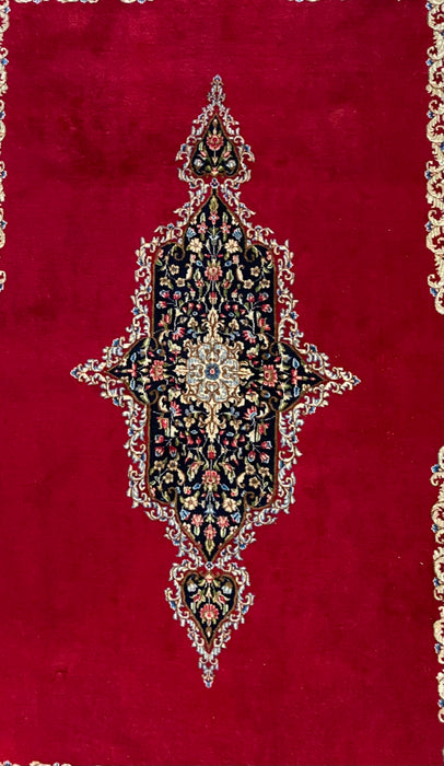 "Antique Persian Kerman Rug, 10'10"" x 7'6"", Wool"