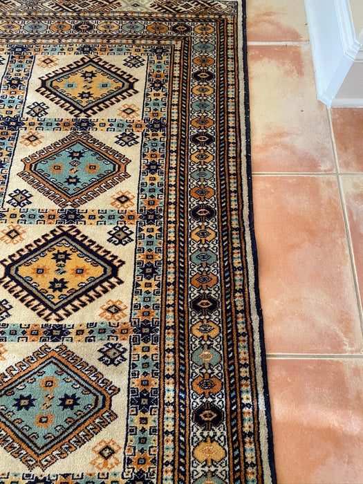 "Vintage Persian Hand Knotted Rug, 6' 1""x 4'x5"". Wool Pile, Ardebil Design - EZ Rugs & Art -rug"