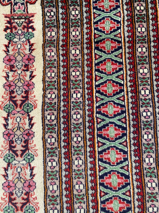 "Hand Knotted Antique Rug, Hand Knotted Qom Rug, 3'4"" x 5'10"", Lamb Wool Kork Rug. - EZ Rugs & Art -rug"