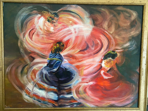 Original Oil Painting, Flamenco Dance - EZ Rugs & Art -art