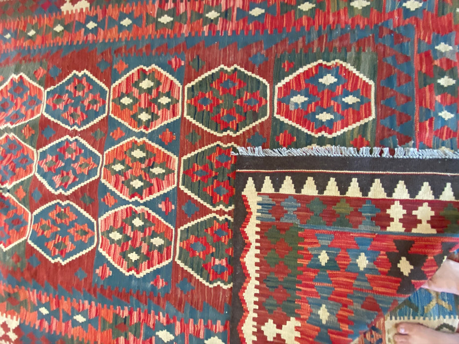 "Turkish Kilim, 5'6""x 8', Wool"