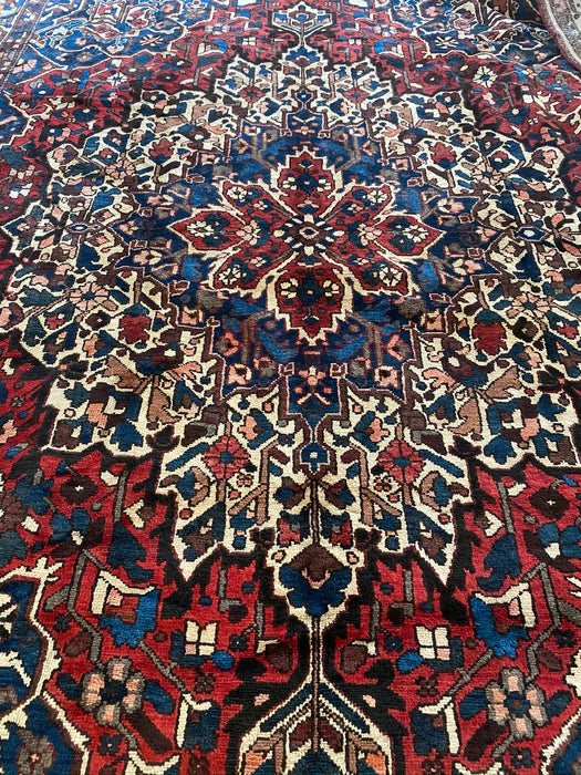1940s Masterpiece Mint Antique Hand Knotted Chaleshtor Lamb Wool Rug, 10' x 14' - EZ Rugs & Art -rug