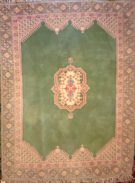 Moroccan Hand Knotted Rug, Wool, 8' x 6'