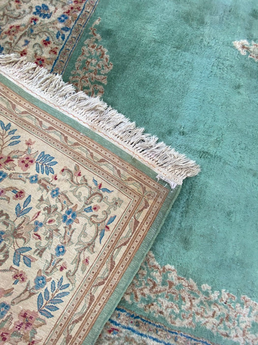 Semi Antique Persian Kerman Rug- 9' x 12', Lamb Wool