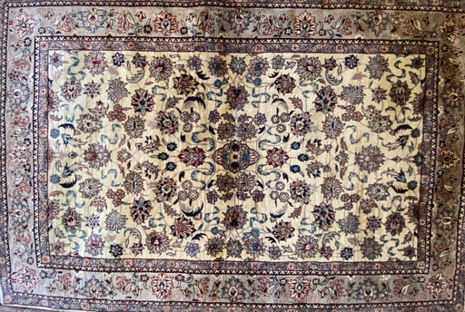 Genuine Persian Nain Rug, Hand Knotted, 6' x 4'. Lamb Wool Pile - EZ Rugs & Art -rug
