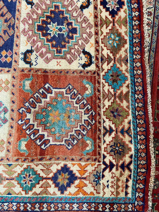 "Authentic Hand-Knotted Persian Shirvan Rug, 5'1"" x 9'2"" - EZ Rugs & Art -rug"
