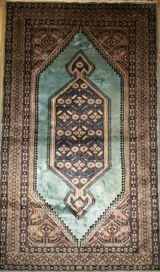 Genuine Oriental Bijar Silk and Lamb Wool rug, Lachak Toranj Design, 3' x 5', 330- 360 KPSI - EZ Rugs & Art -rug