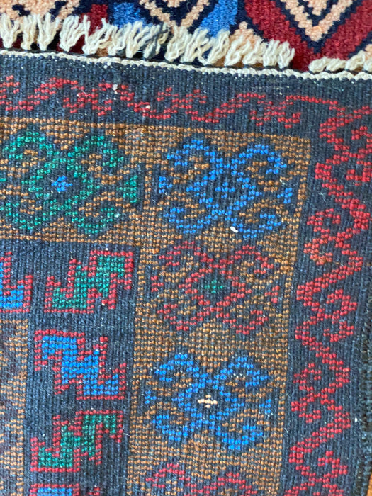 Hand Knotted Afghan Rug, 4 x 6, Wool, New tribal Design