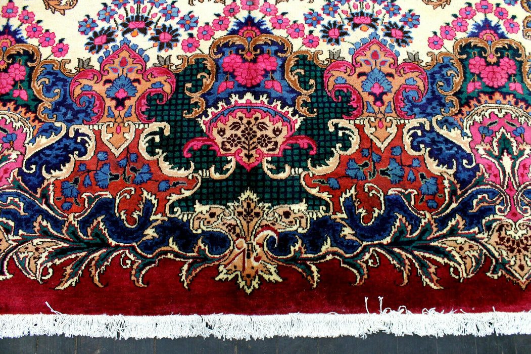 1940s Persian AntiqueE 300 KPSI  Master Knotted Dorokhsh lamb Wool - EZ Rugs & Art -rug