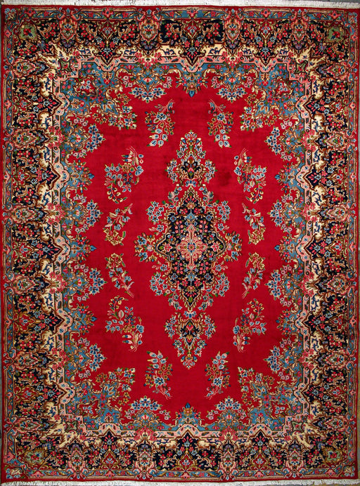 "Kerman Arjomand Signed Rug, Persian,  Wool, Authentic Hand Knotted Persian Rug, 10' 3"" x 13' 11"" - EZ Rugs & Art -rug"