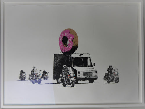 Banksy Strawberry Donut Signed Screen Print