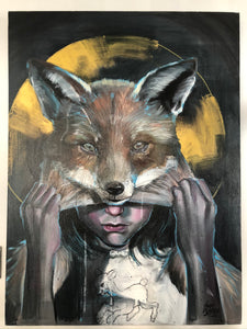"Dan Ferrer Original Canvas ""From Lamb to Fox"""