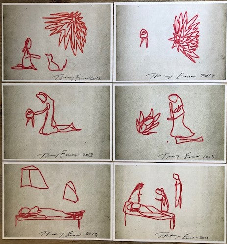 Tracey Emin Signed Ipad Sketch Set of 6 Limited Edition