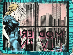 Faile Modern Living Limited Edition Hand Painted, Stained and Printed