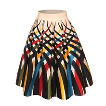 Load image into Gallery viewer, Picture Color Patterned A-line Skirt with pleats