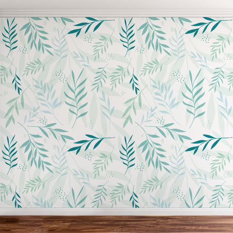 Tropical leaves wallpaper