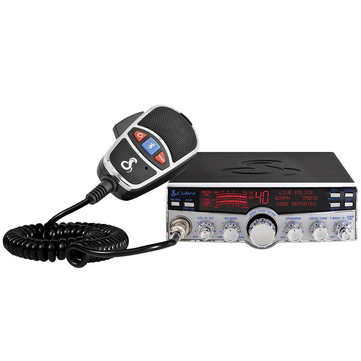 Smart Hands-Free CB Radio with NOAA and Emergency Alert