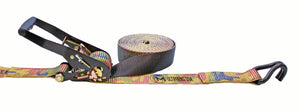 "CAMO - RATCHET STRAP 2""X27' WITH #618 J HOOK - 27FT"